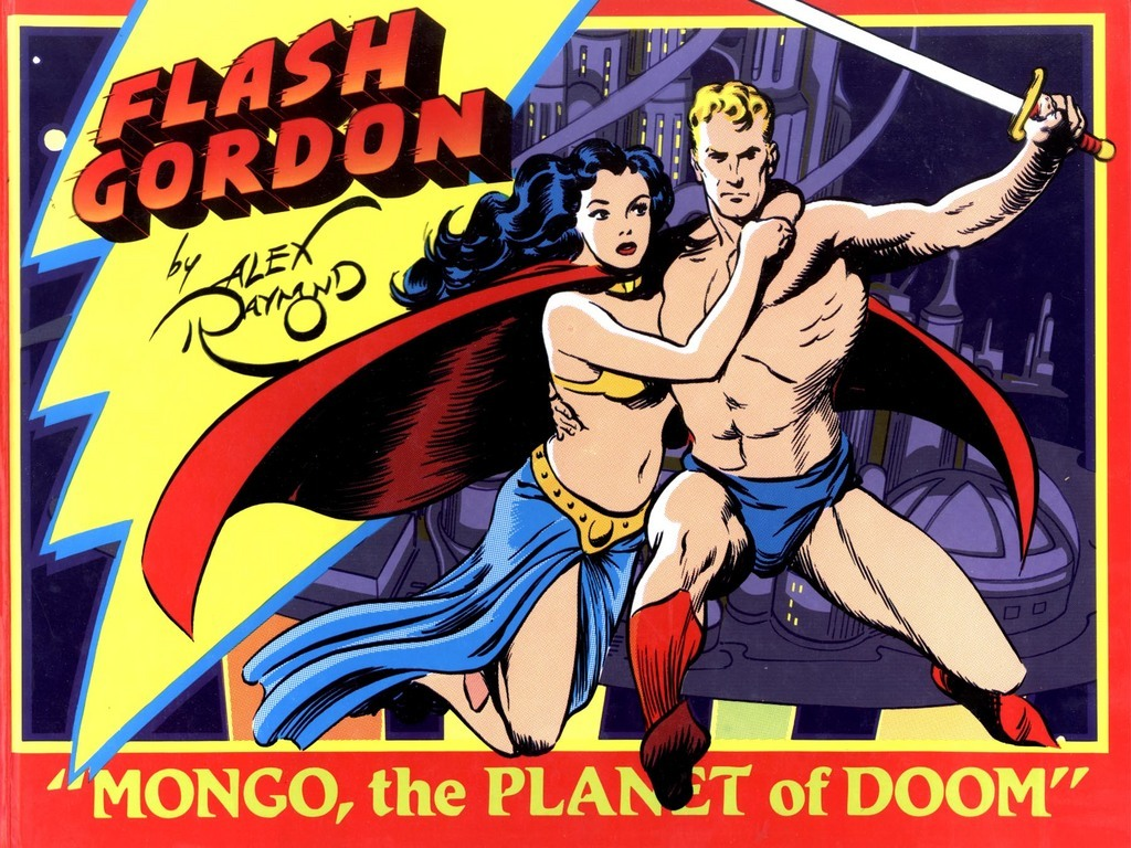 Comic flash gordon strip