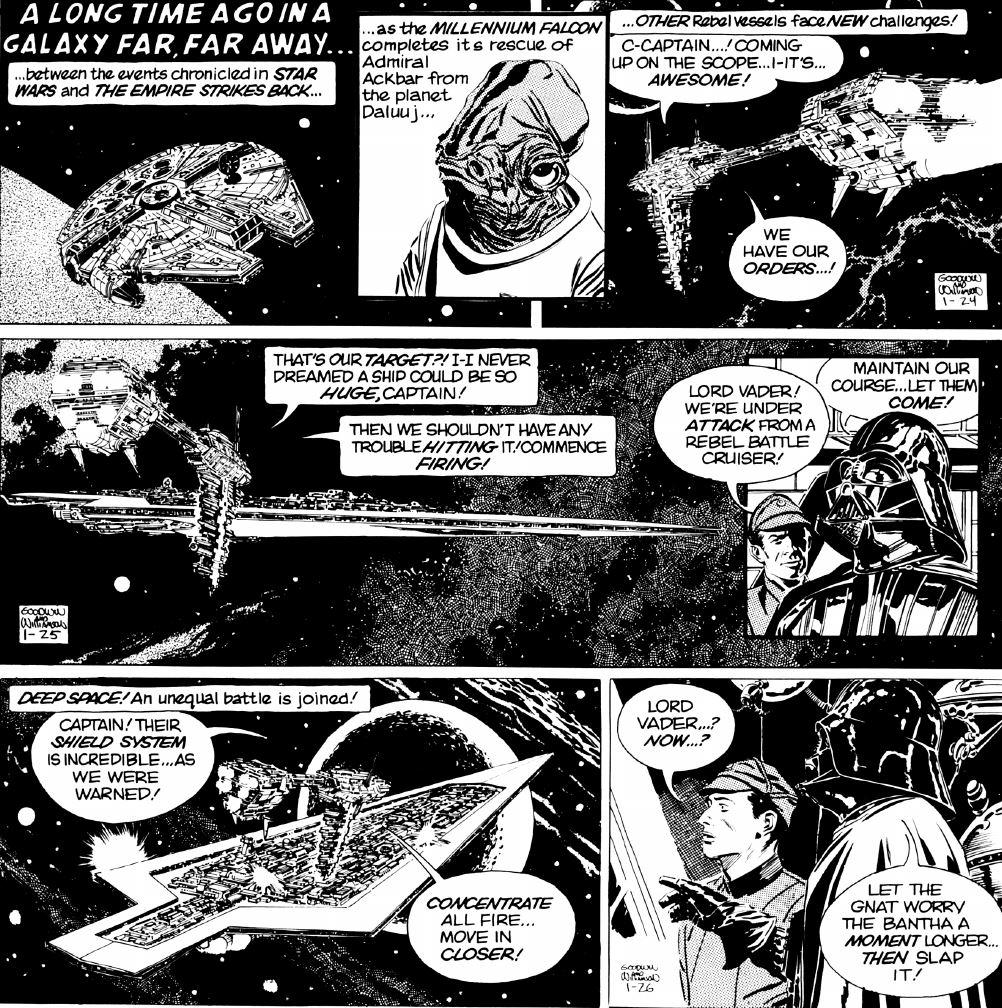 Comic in newspaper star strip war photos
